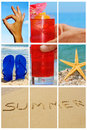 Beach collage Stock Photography