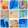 Beach collage Royalty Free Stock Photos