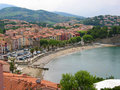 Beach in Collioure Stock Photo