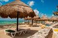 Beach in costa maya Royalty Free Stock Photo