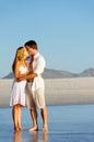 Beach couple kiss Royalty Free Stock Photo
