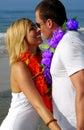 Beach couple romantic Στοκ Εικόνες
