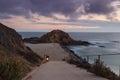 Beach cove at sunset in Laguna Beach, Southern California Royalty Free Stock Photo