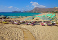 Beach on Crete Island, Greece Stock Images