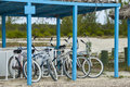 Beach Cruiser Bicycles Royalty Free Stock Images