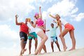 Beach dancers Royalty Free Stock Photo