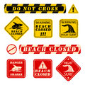 Beach danger signs