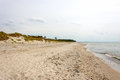 Beach darsser ort at peninsula fischland darss zingst Royalty Free Stock Photo