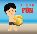 Beach design concept and summer icons vector illustration graphic Stock Photos