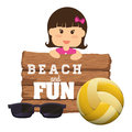 Beach design concept and summer icons vector illustration graphic Stock Image