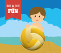 Beach design concept and summer icons vector illustration graphic Royalty Free Stock Photography