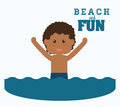 Beach design concept and summer icons vector illustrationgraphic Royalty Free Stock Photos