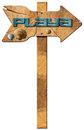 Beach Directional Sign in Spanish Language Royalty Free Stock Photo