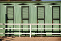 Beach dressing rooms row of at the in italy in spring Stock Photography