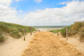 Beach and dunes on Dutch Texel Stock Images