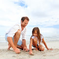 Beach family fun Stock Photo