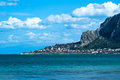 Beach of the famous mondello in palermo sicily Stock Images
