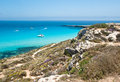 Beach of favignana aegadian island the wonderful in sicily italy Stock Photo