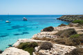 Beach of favignana aegadian island the wonderful in sicily italy Royalty Free Stock Photography