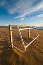 Beach football goal Royalty Free Stock Image