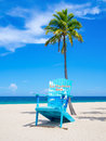 The beach at Fort Lauderdale in Florida Royalty Free Stock Photo