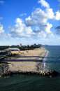 Beach at fort lauderdale florida and cityscape of Stock Images