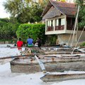 Beach front house by the Indian Ocean Royalty Free Stock Photo