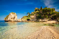 Beach in front of the island Isola Bella Royalty Free Stock Photo