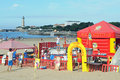 Beach games for children in saint georges de didonne france Stock Image
