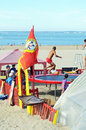 Beach games for children in saint georges de didonne france Stock Photography