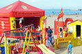 Beach games for children in saint georges de didonne france Royalty Free Stock Images