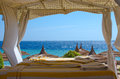 Beach gazebo royal grand sharm hotel egypt ras um sid sharm el sheikh near royal grand sharm hotel ex iberotel sunrise hotel point Royalty Free Stock Image