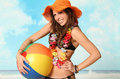 Beach Girl Royalty Free Stock Photo