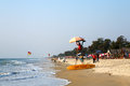 Beach goa india beautiful sunny cavelossim Royalty Free Stock Image