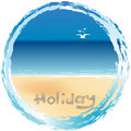 Beach holiday card Royalty Free Stock Photo