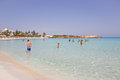 Beach holidays in cyprus the photograph shows one of the most beautiful beaches of located famagusta agia napa Royalty Free Stock Image