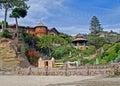 Beach home at Victoria Beach, Laguna Beach, CA. Royalty Free Stock Photo