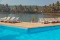 Beach hotel resort swimming pool Royalty Free Stock Photo