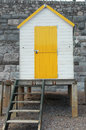 Beach house small yellow and white Royalty Free Stock Images