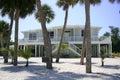 Beach house in tropics Royalty Free Stock Photo