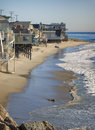 Beach Houses, California Royalty Free Stock Photo