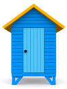 Beach hut Stock Image