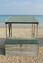 Beach hut an unusual form of from weymouth in dorset england Stock Photos