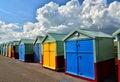 Beach Huts. Brighton. UK Royalty Free Stock Photo
