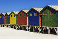 Beach huts colour at muizenberg near cape town south africa Stock Photography