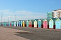 Beach Huts at Hove, Brighton, England Royalty Free Stock Photo