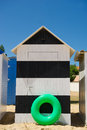 Beach huts on island Oleron in France Stock Images