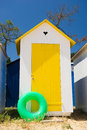 Beach huts on island Oleron in France Stock Image