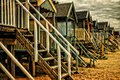 Beach huts in norfolk on the east coast of uk Royalty Free Stock Images