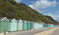 Beach huts on promenade, Bournemouth Royalty Free Stock Photo